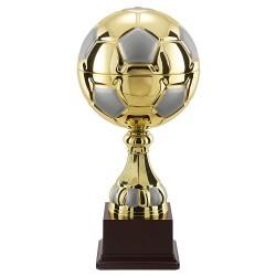 Trophée coupe luxe sport argent et or ballon football