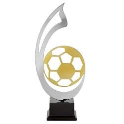 Trophée coupe luxe métal sport argent et or football