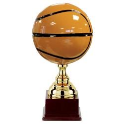 Trophée coupe luxe métal or sport basket