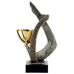 Trophée métal avec bol or