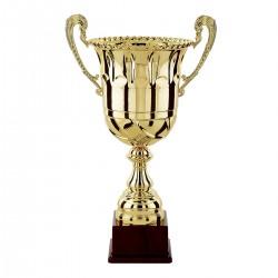 Trophée coupe prestige colonne or bol or avec poignées