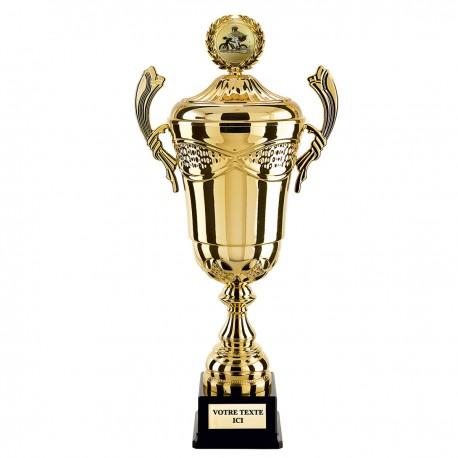 Trophée coupe prestige OR avec couvercle