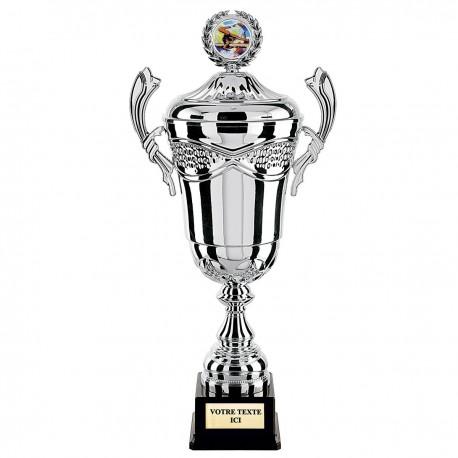 Trophée coup prestige Argent avec couvercle